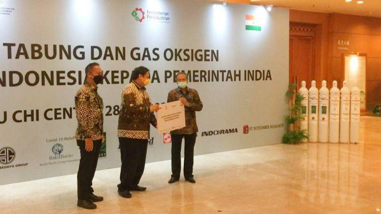 indonesia kirim tabung oksigen