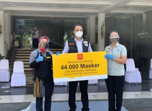 mcd donasi masker