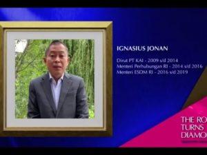 Ignasius Jonan saat berpidato dalam Wisuda ke 80