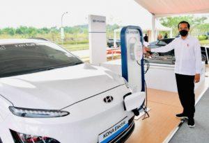 Jokowi baterai Hyundai