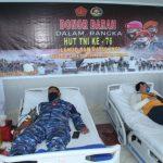 Lanud Sam Ratulangi Gandeng RS Sentra Medika Minahasa Utara Gelar Donor Darah